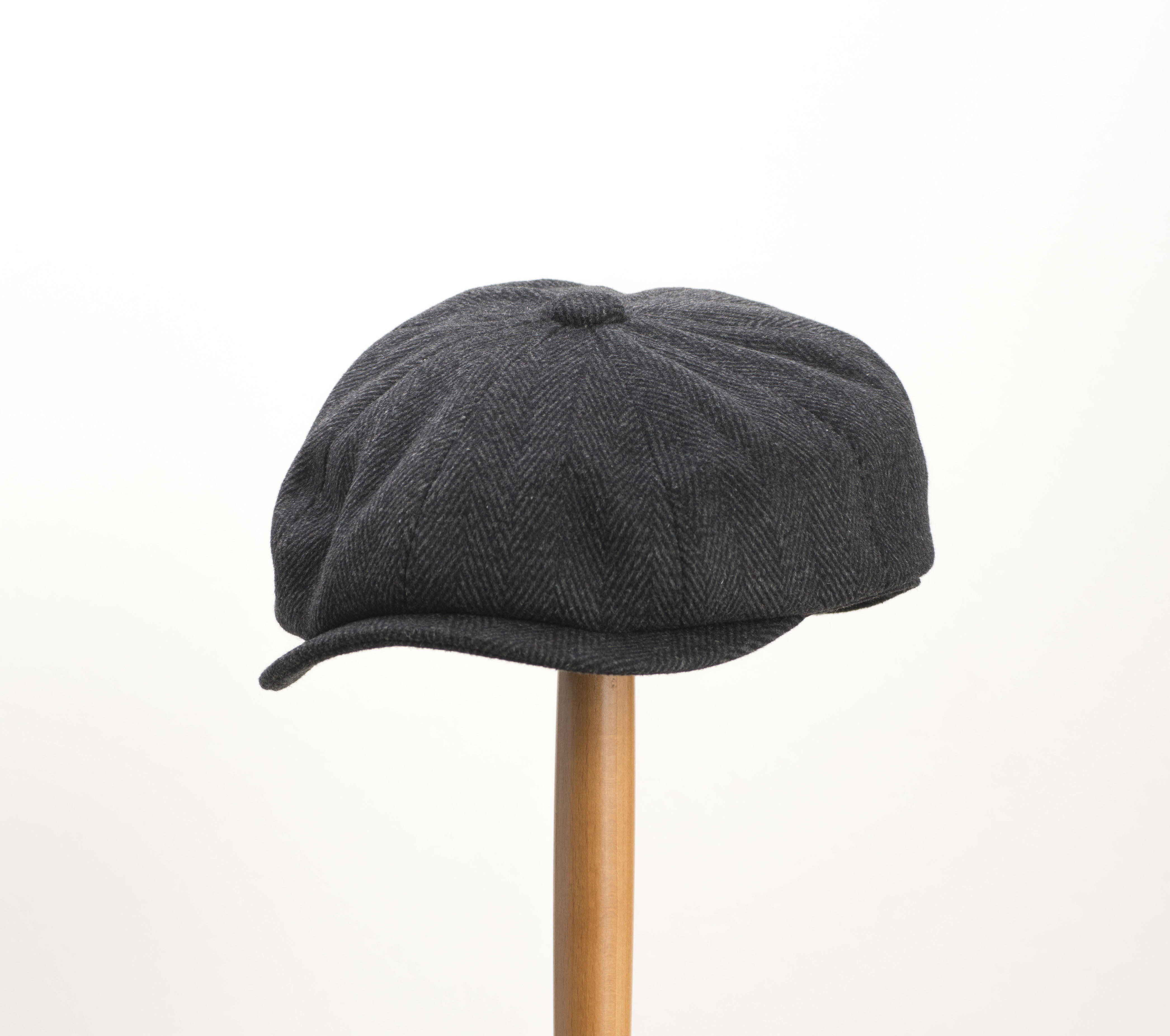 2e43f8a1b4e Whiteley Herringbone Tweed Newsboy Cap - Black
