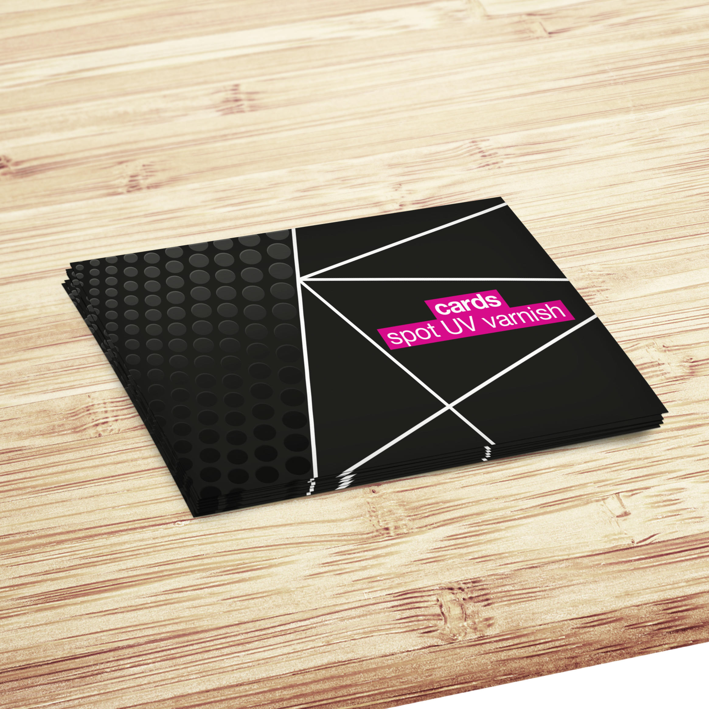 Spot UV Gloss & Soft Touch Laminate Business Cards - 54x85mm