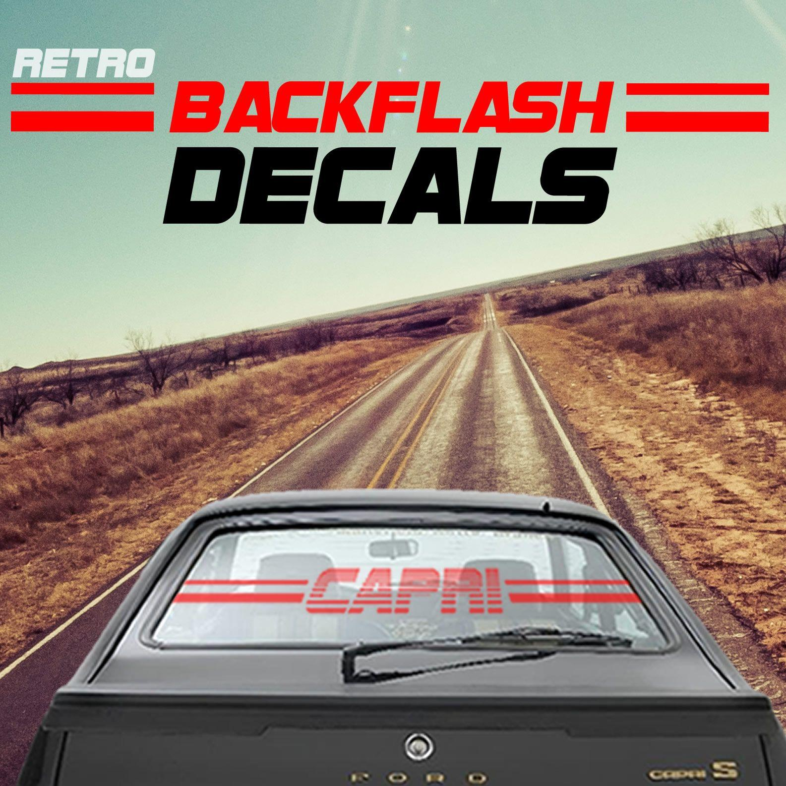 BACKFLASH CAR DECALS