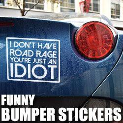 Funny Bumper sticker decals