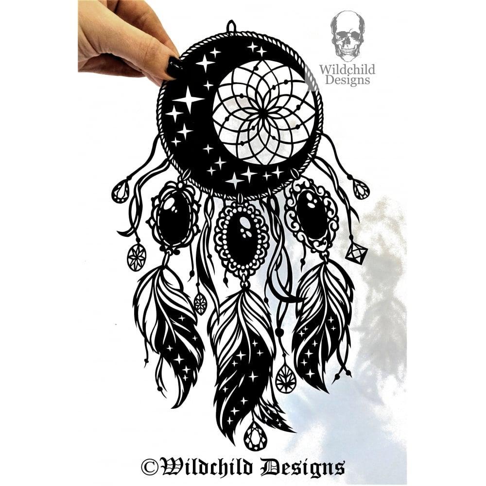 Moon Stars Dreamcatcher Wildchild Designs Guest Artist
