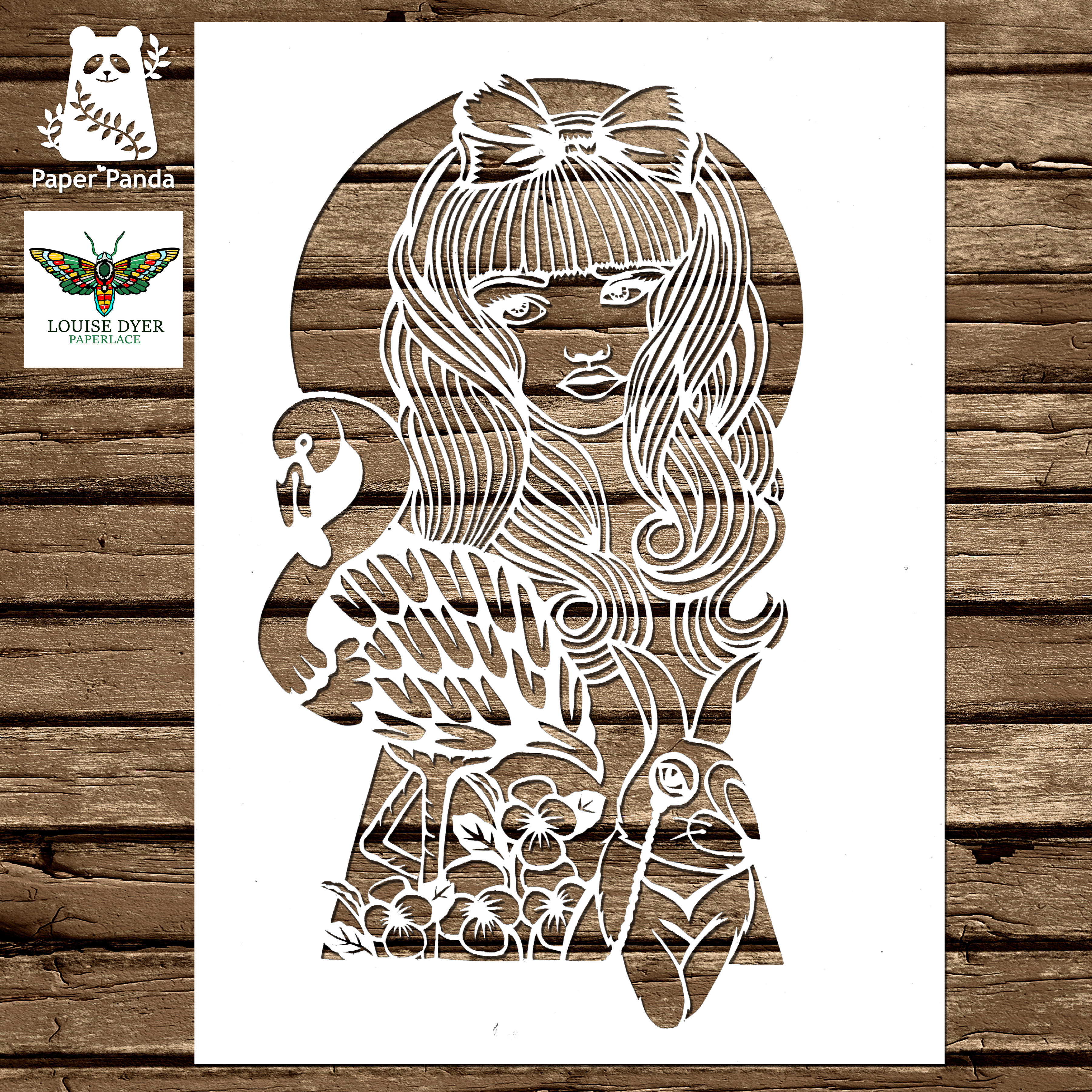 Alice through the keyhole paperlace guest artist papercut alice through the keyhole paperlace guest artist papercut template personal use maxwellsz