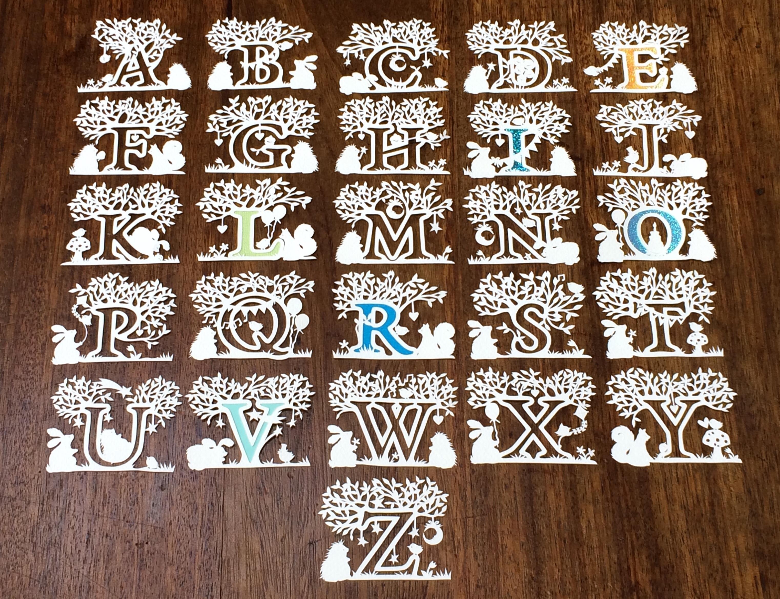 alphabet  numbers   u0026 - little pickle papercuts