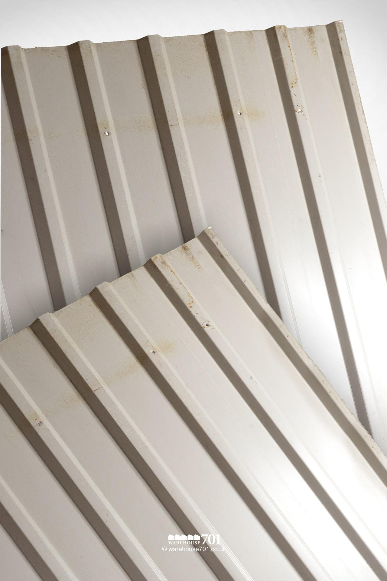 Assorted Reclaimed Box Profile Corrugated Roofing And Building Sheets