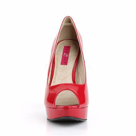 Red Patent Peep Toe Court Shoe front