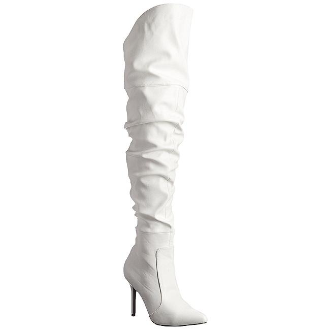 White Classique Thigh Boots