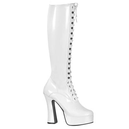 White Patent Knee Boots