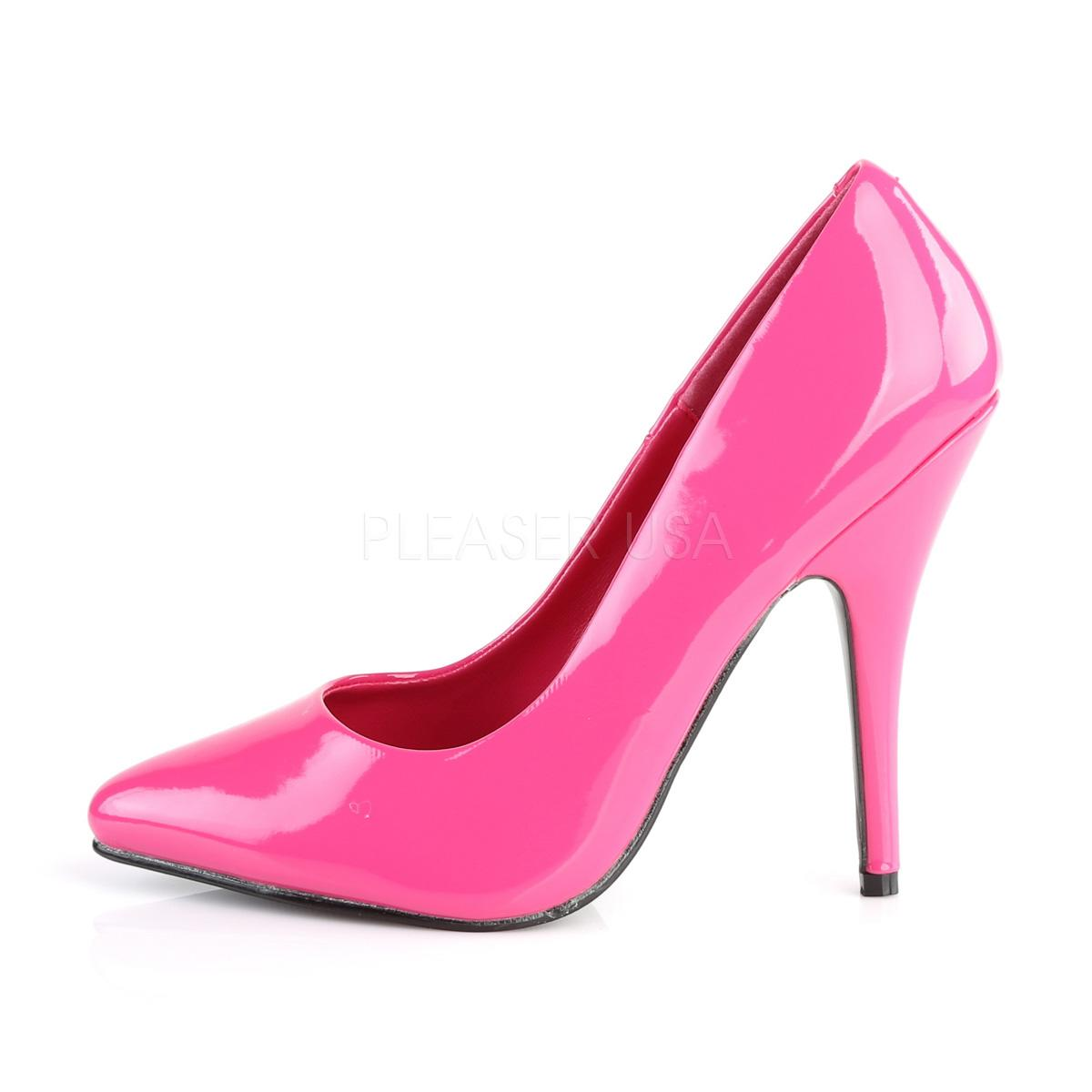 Hot Pink Patent Court Shoe