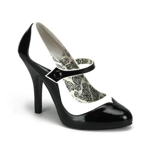 Black & White Mary Jane Shoe
