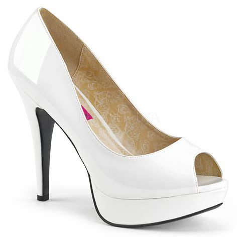 White Peep Toe Court Shoe
