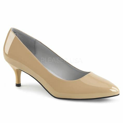 Cream Patent Kitten Heels