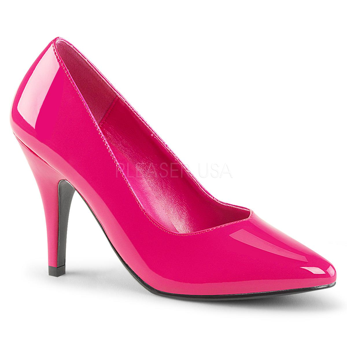 Hot Pink Wide Fitting Court Shoe
