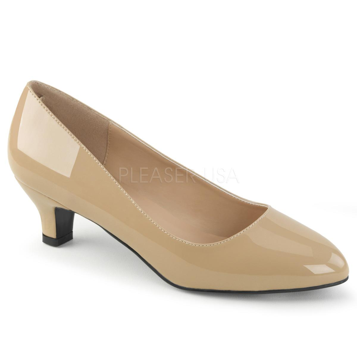 Cream Patent Court Shoe