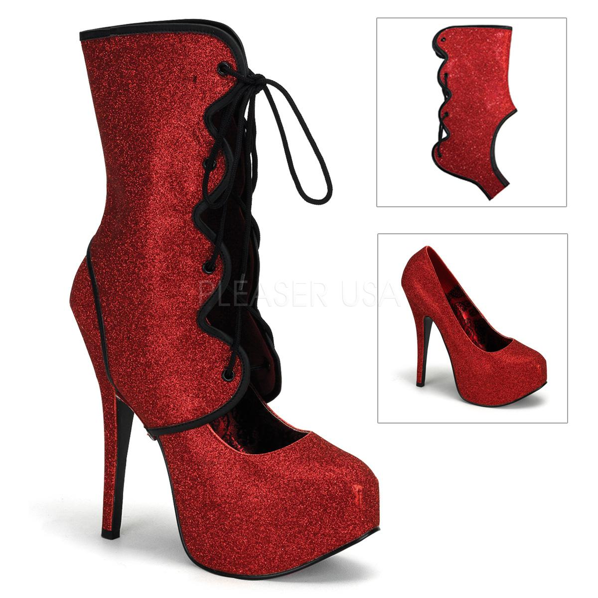 Red Glitter Court Shoe/Boot