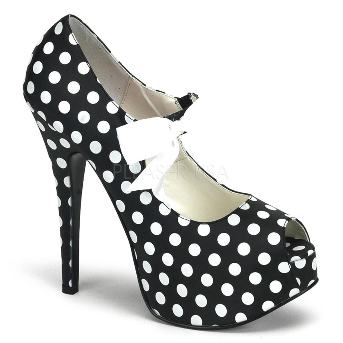 Black/White Mary Jane Shoe