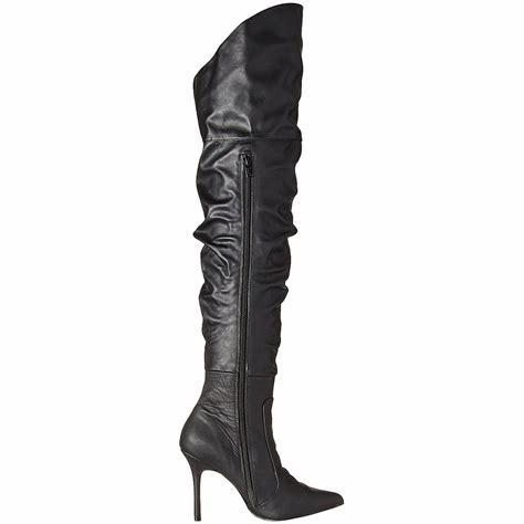 Black Classique Thigh Boots with zipper