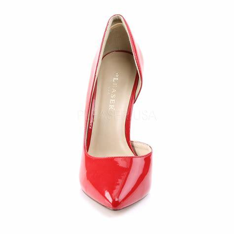 Red Patent Court Shoe profile