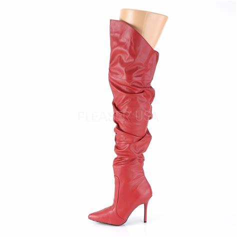Red Classique Thigh Boots