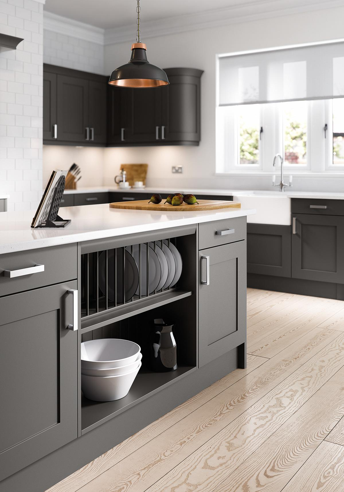 Oxford Shaker Anthracite Shaker Style Kitchen Cabinet Doors