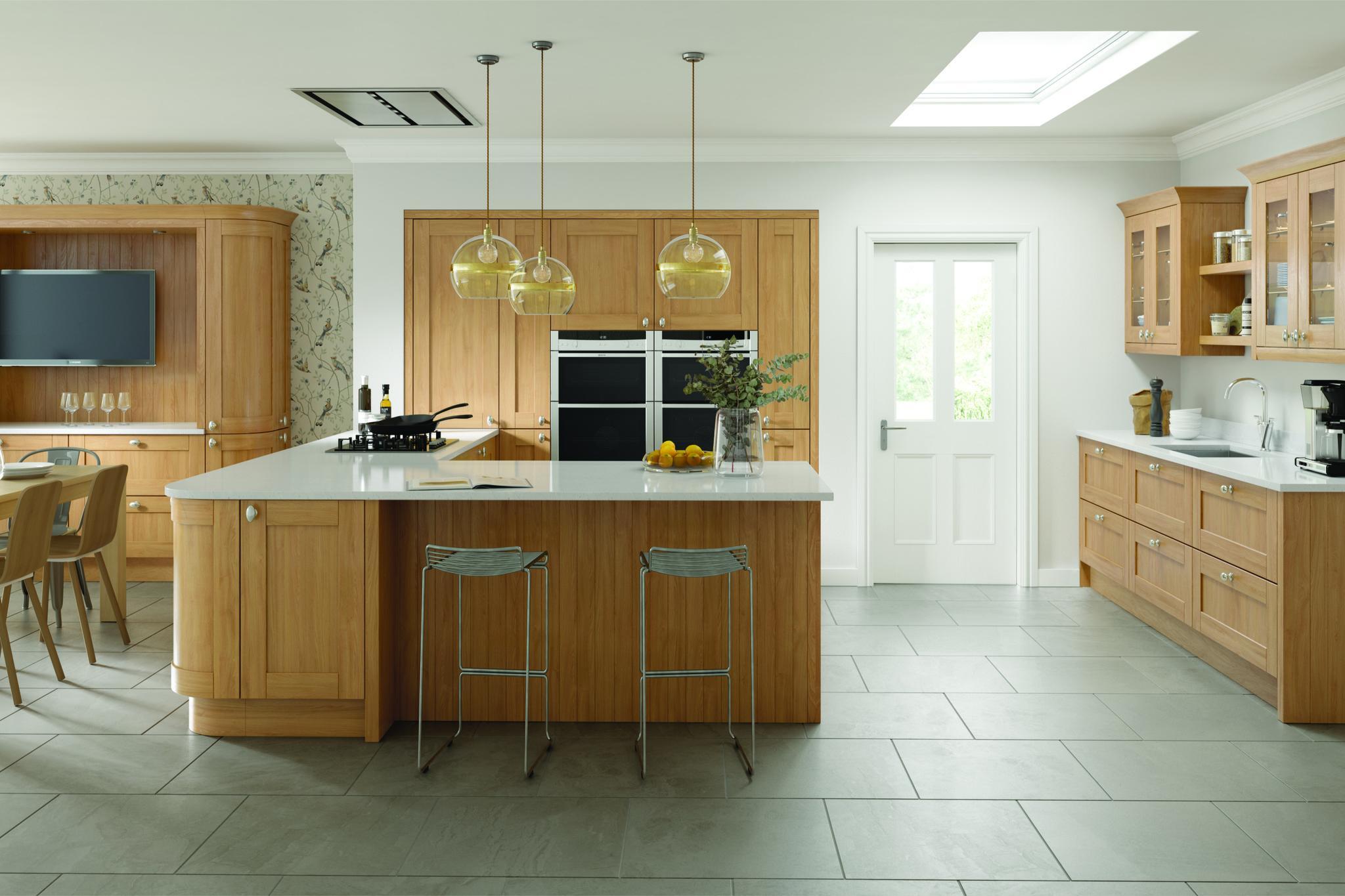 Cambridge Shaker Oak Shaker Style Kitchen Cabinet Doors