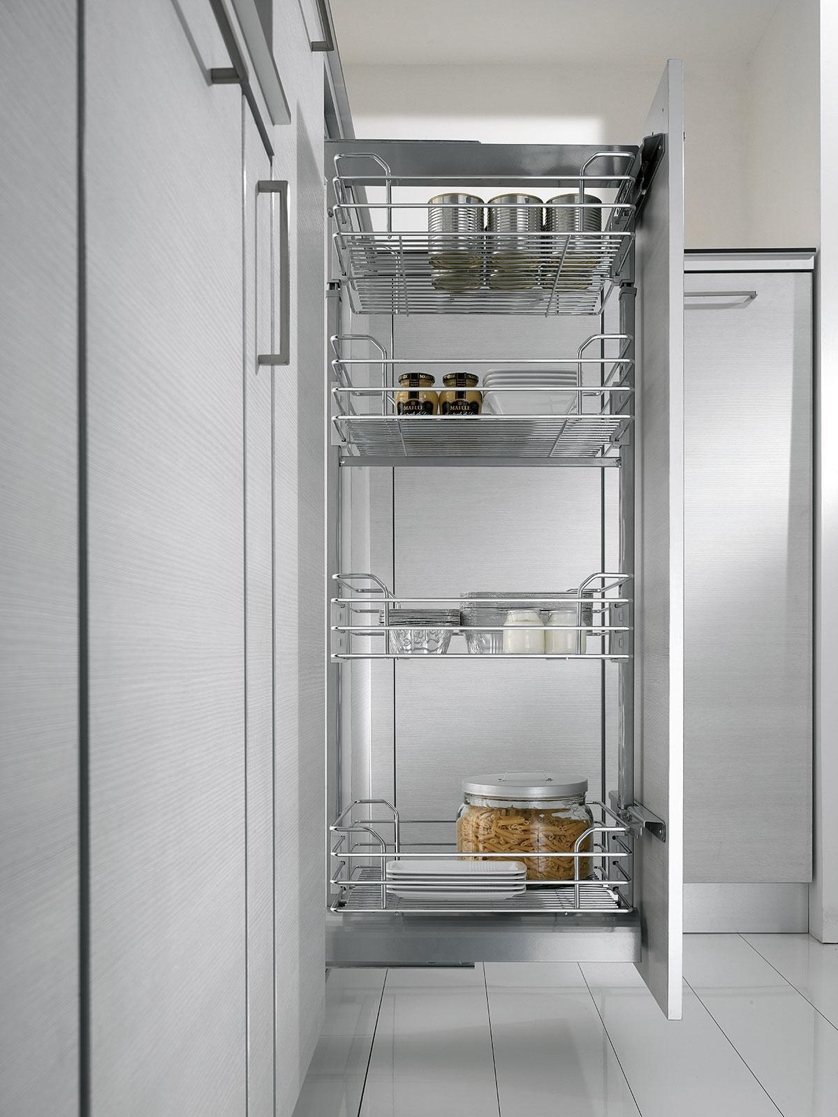 Dynamic Mid Height Pantry Pull Out - 500mm (Chrome)
