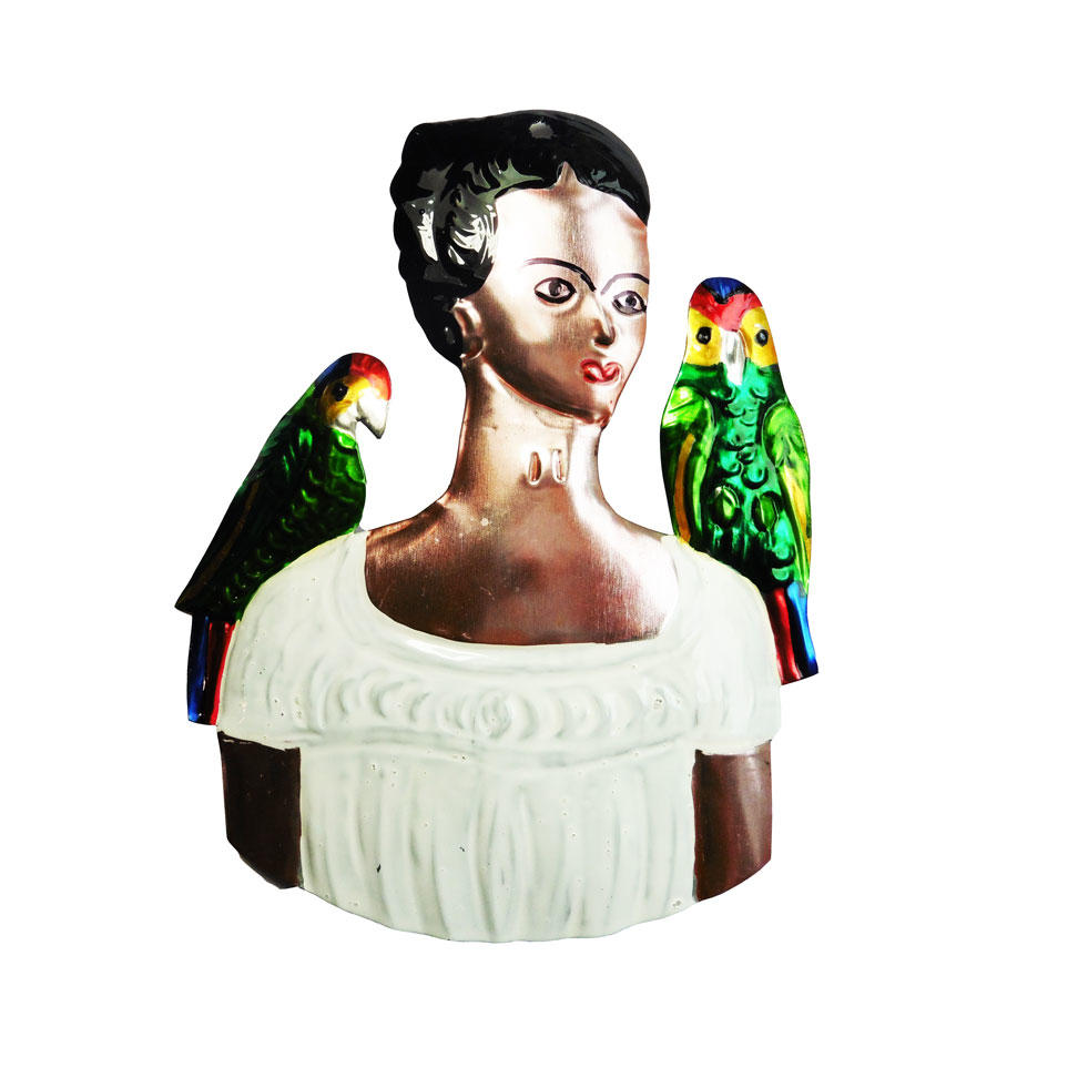 Tin Frida Kahlo Ornament