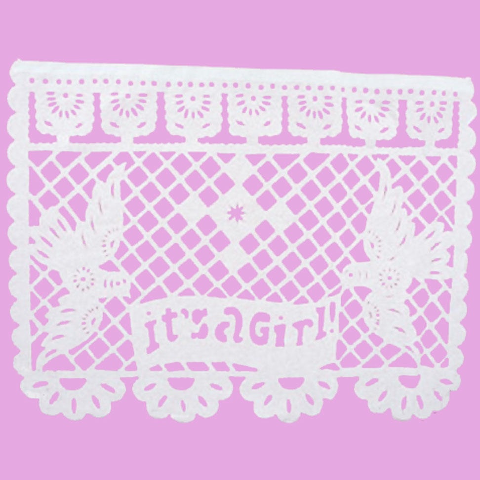 Papel Picado Banners for Baby Girl Baby Shower