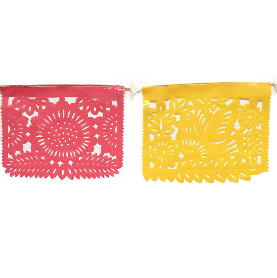 Pink and Yellow Papel Picado