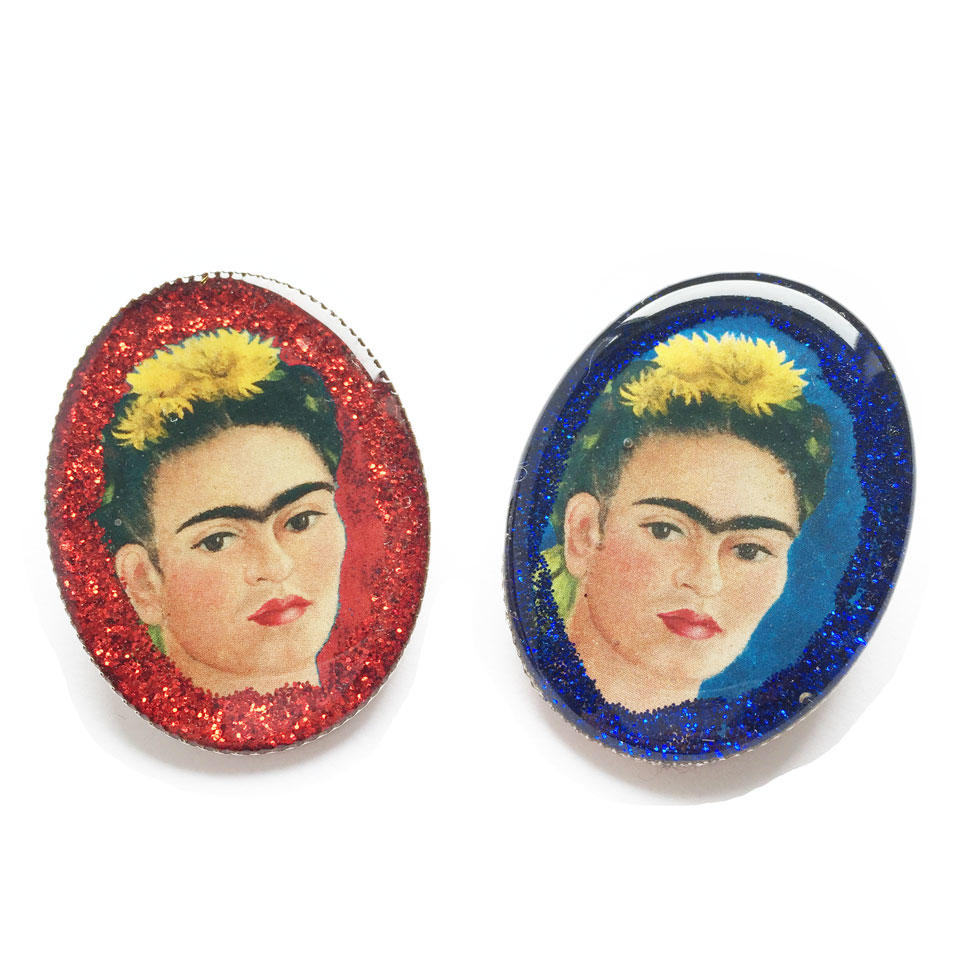 Frida Kahlo Glittery Brooches