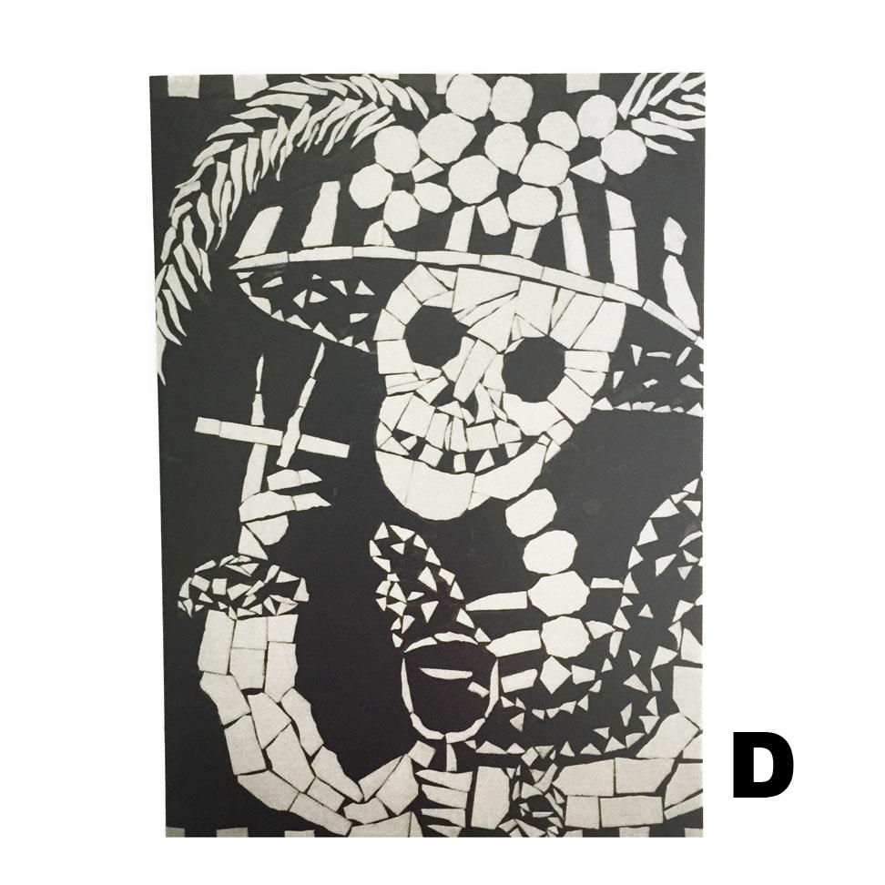 Juan Is Dead Greetings Card - Skeleton Smoking