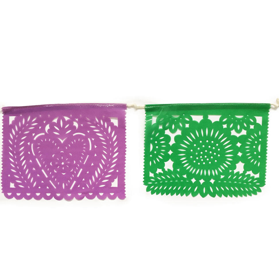 Purple and Green Papel Picado
