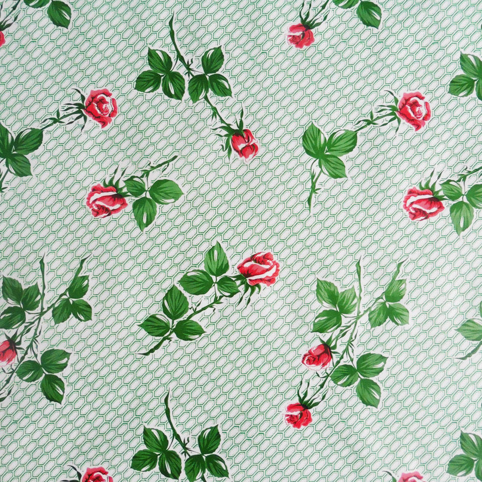 Green Rose Oilcloth