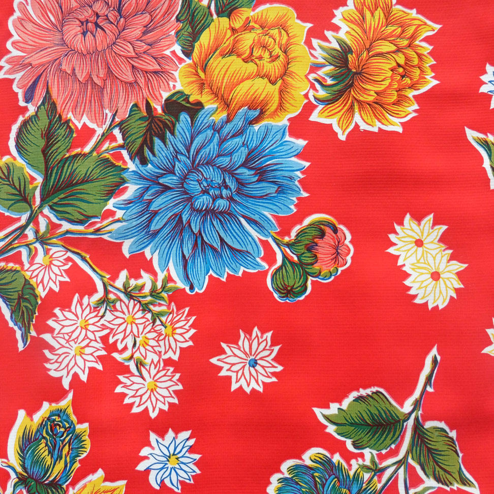 Red Chrysanthemum Oilcloth