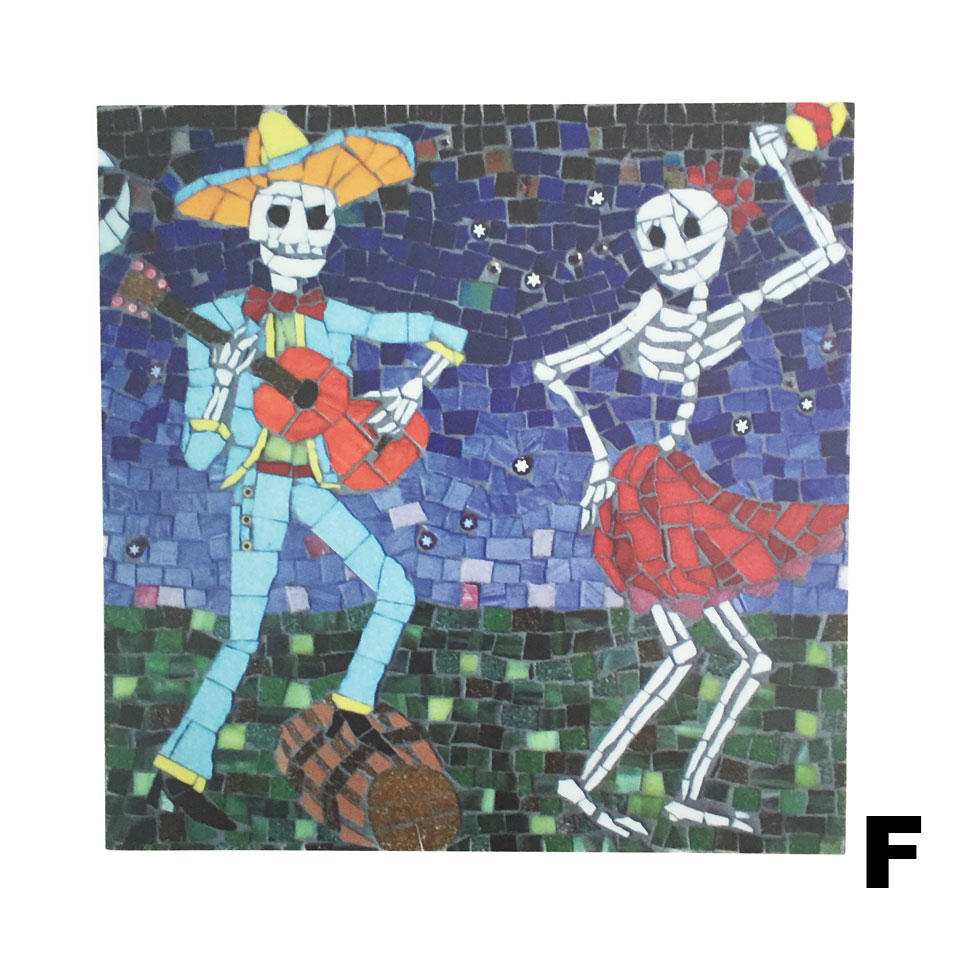 Juan Is Dead Greetings Card - Skeletons dancing