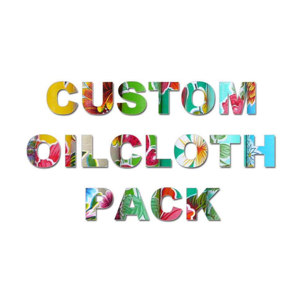 Image saying Custom Colour Oilcloth Pack