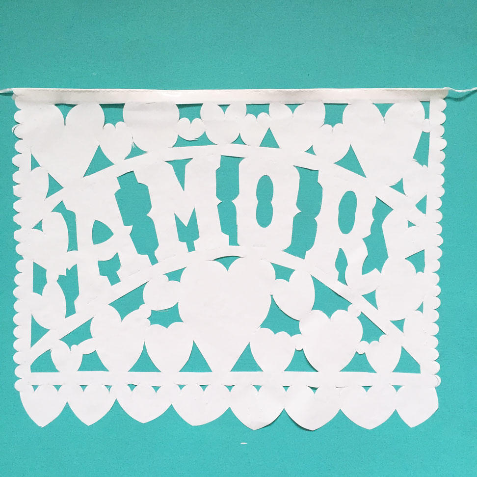 Large White Wedding Banner