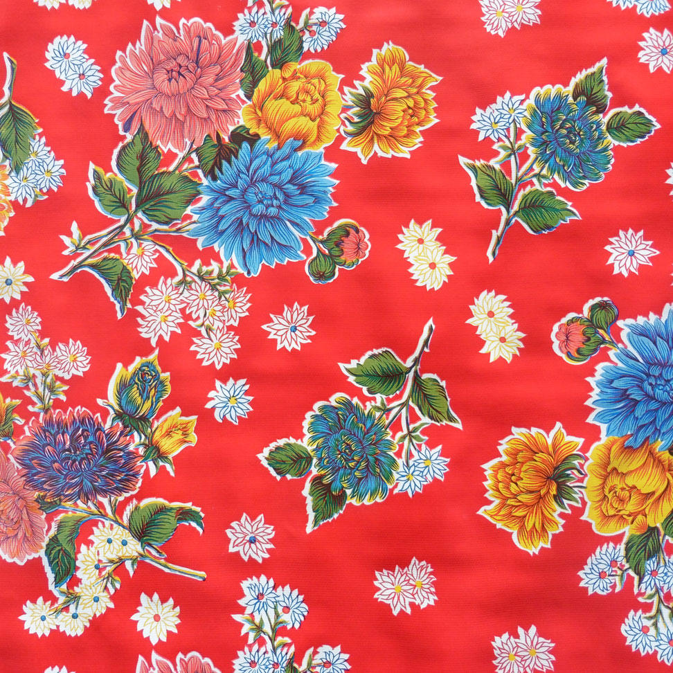 Red Chrysanthemum Oil cloth