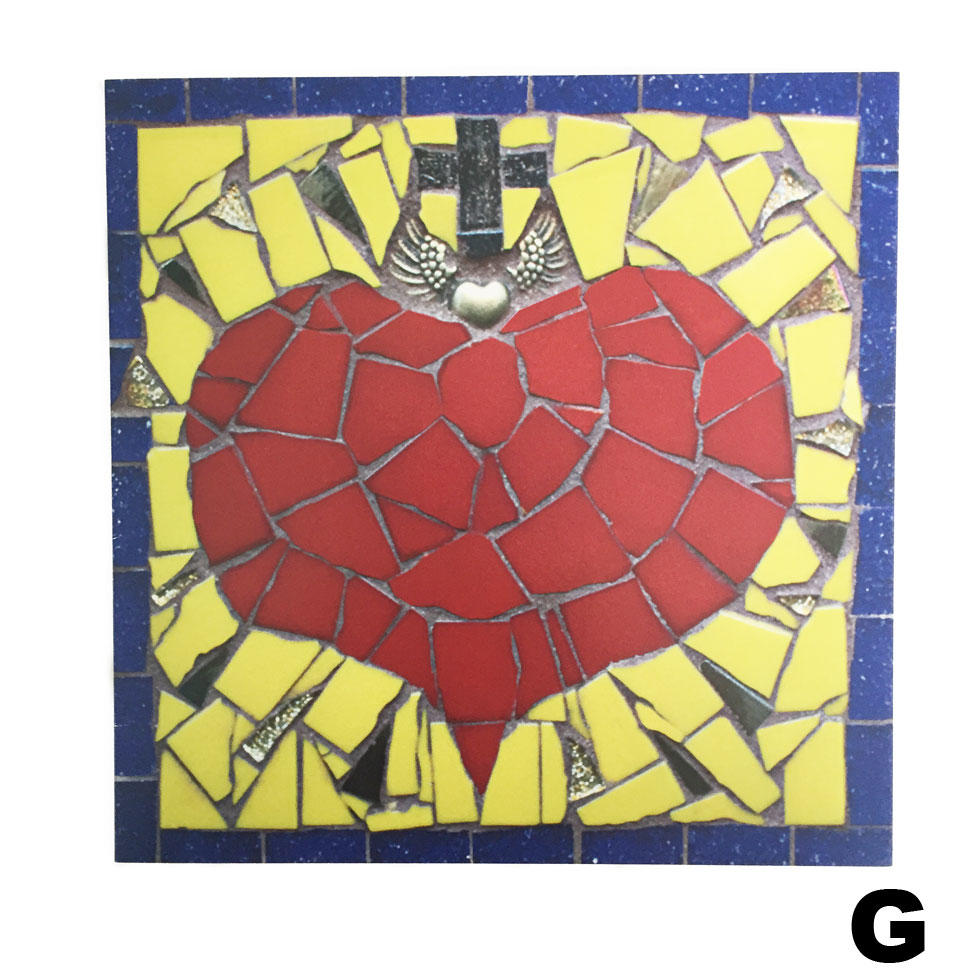 Juan Is Dead Greetings Card - Mosaic Heart