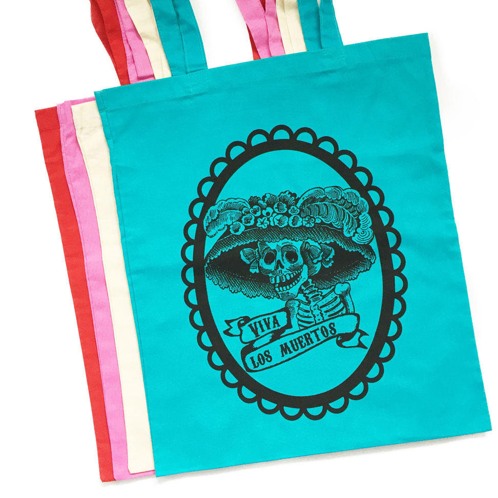 Mexican Day of the Dead Tote Bags