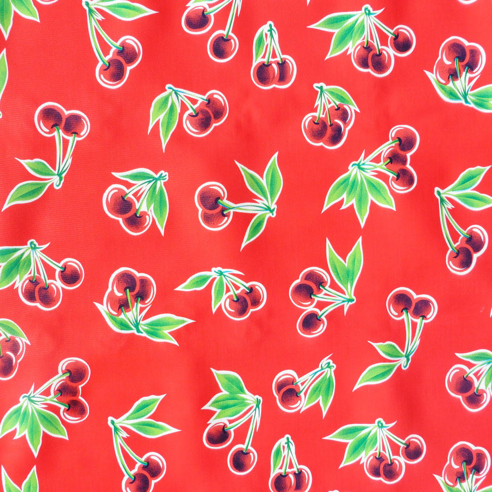 Red Cherry Print Oil cloth
