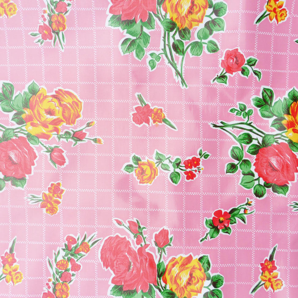 Pink Rose Mexican Oilcloth
