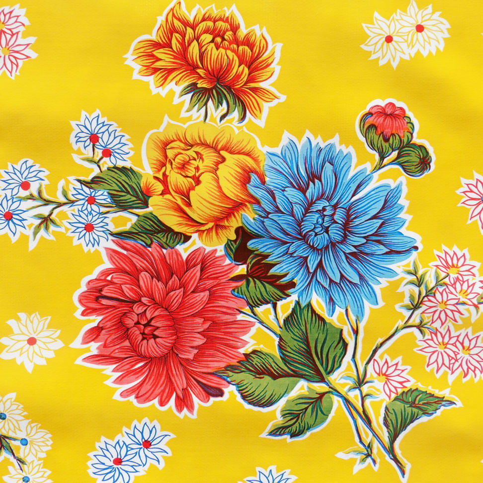 Yellow Chrysanthemum Oilcloth