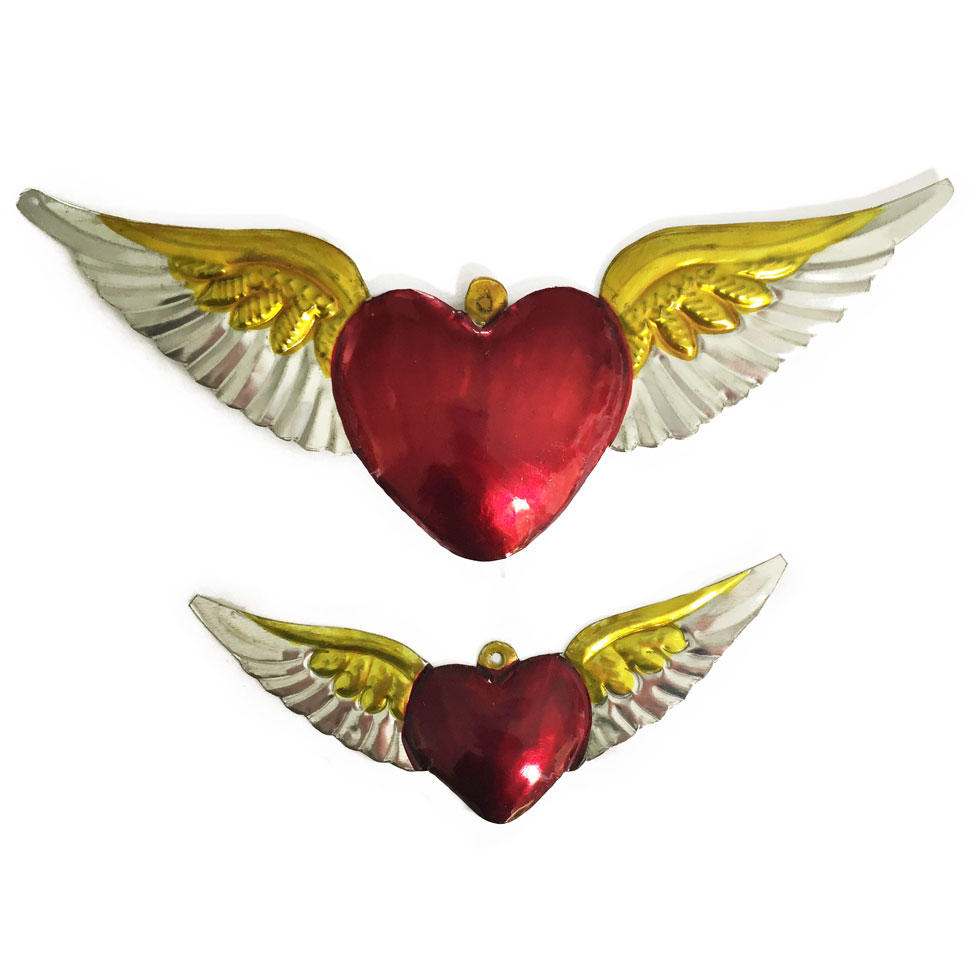 Mexican Painted Winged Hearts