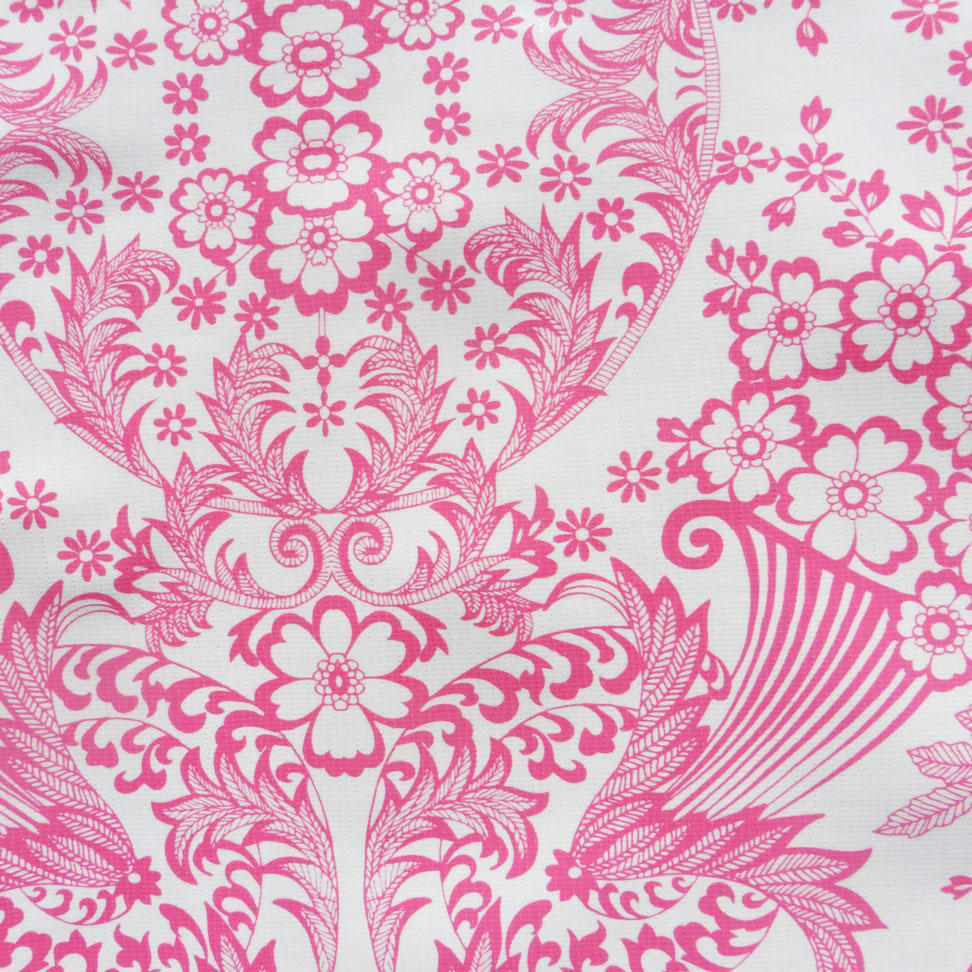 Pink Lace Print Oilcloth