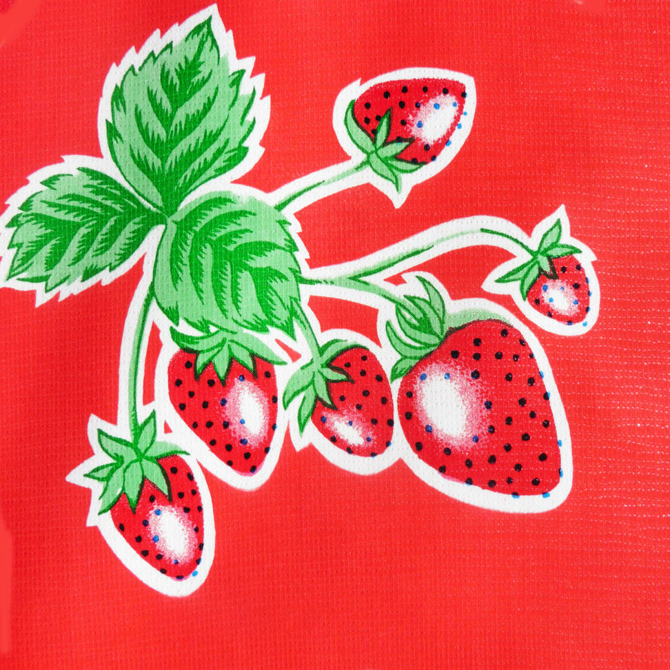 Red Strawberry Oilcloth