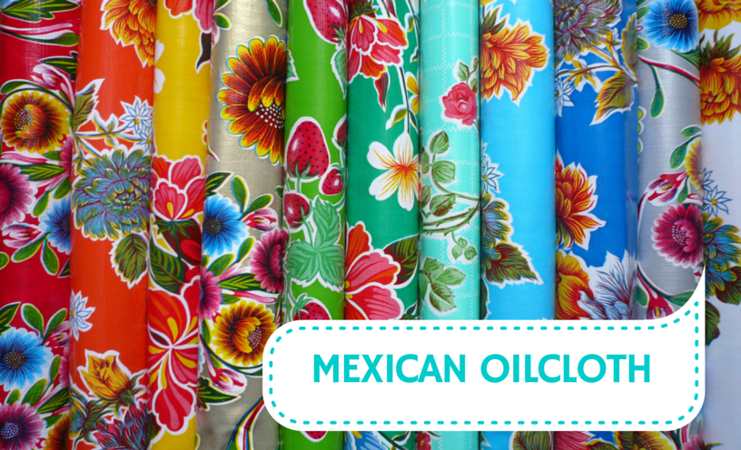 Mexican Oilcloth Colourful Vinyl Fabric Mexicana Day