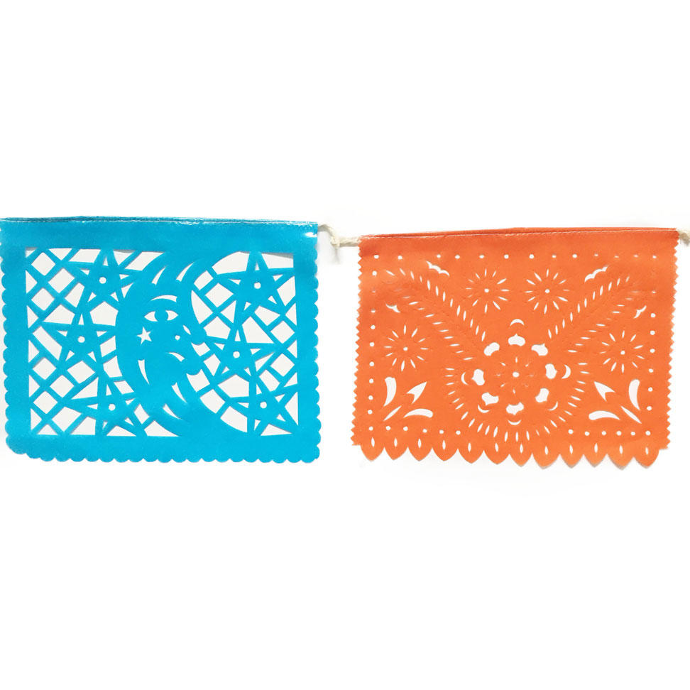 Blue and Orange Papel Picado