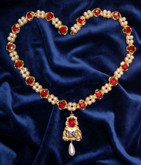 jane seymour ruby necklace