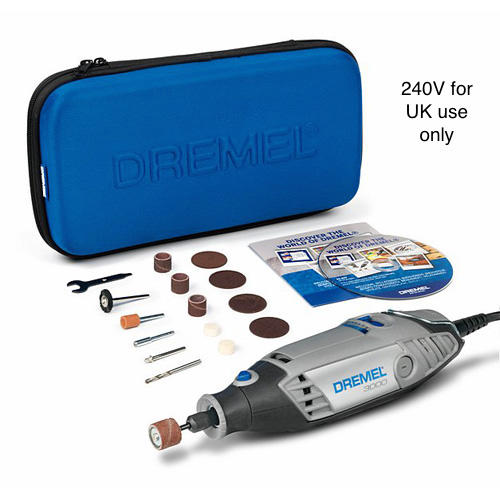 Dremel 3000 Rotary Drill Tool Kit with 15 Accessories