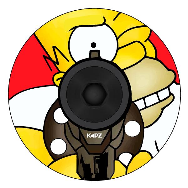 homer simpson headset cap